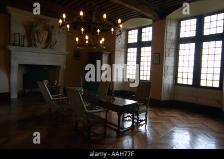 Inside Chateau de Monbazillac Dordogne France - Stock Photo