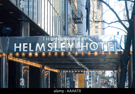 the helmsley hotel on 42nd street in new york city - Stock Photo