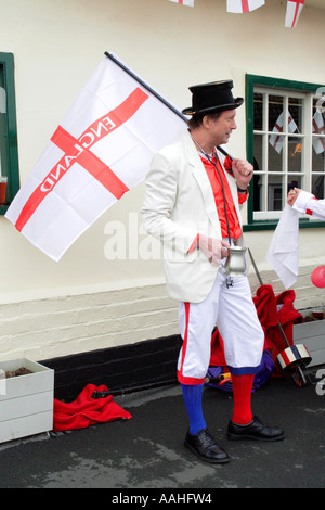 A Morris Dancer playing the part of the 'Fool'. - Stock Photo