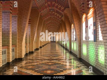 Interior of Abbey Saint Benoit du Lac, Magog, Quebec - Stock Photo