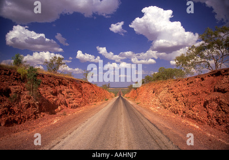 Carpentaria Highway West of Cape Crawford Northern Territory Australia Horizontal  - Stock Photo