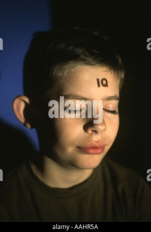 IQ boy - Stock Photo