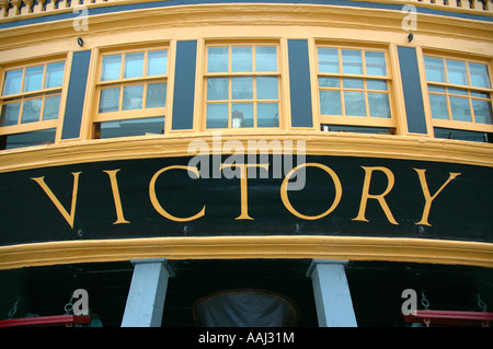 HMS Victory, Portsmouth Historic Dockyard, Portsmouth, England, UK, GB. - Stock Photo