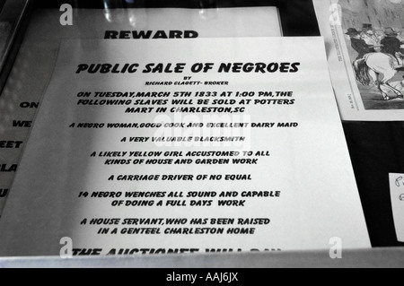 slavery items for sale in Old City Market Charleston, South Carolina - Stock Photo