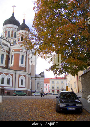 The Russian-orthodox Alexander Nevsky Cathedral in Tallinn, Estonia, was built in Russian revival style 18941900. - Stock Photo
