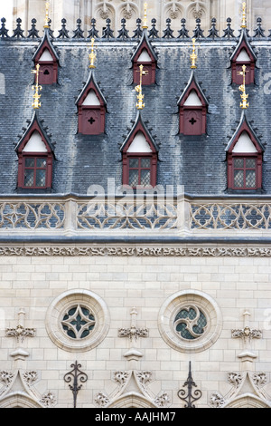 Church detail in Place des Heros Arras Northern France - Stock Photo