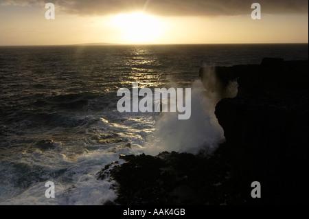 Sunset Overlooking the Aran Islands - Stock Photo