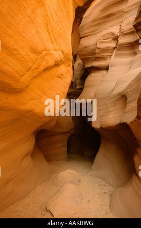 Antelope Canyon a sandstone slot canyon in Southern Utah - Stock Photo