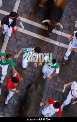 Encierro, the running of the bulls, Fiesta de San Fermin, Festival of Stock P...