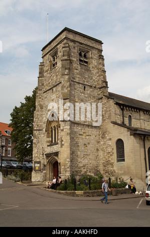 malton church yorkshire north england great britain united kingdom uk village town tourism tourist travel historic - Stock Photo