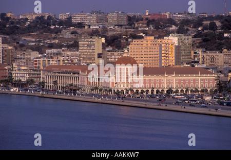 Luanda city, Angola, Africa. Angola National Bank. - Stock Photo