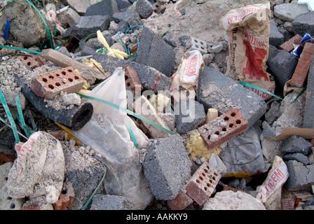 construction  waste uk - Stock Photo