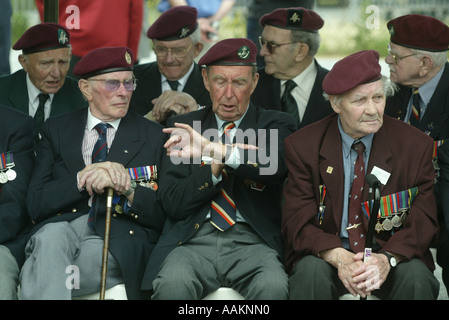 A Second World War Veteran checks his watch to see the time as they wait at events to mark the 60th Anniversary - Stock Photo