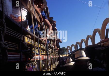 Catholicism Children accompany family at pilgrimage to Juazeiro do Norte city Ceará State Brazil - Stock Photo