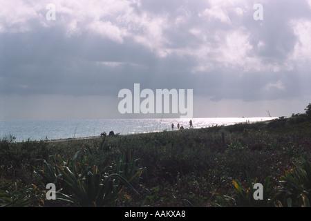 Unsettled weather over Bahia Honda State Park Florida Keys USA - Stock Photo