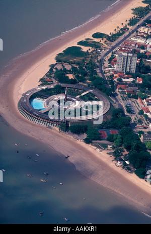 Aerial view of Joao Pessoa Paraiba Brazil Tropical Tambau Hotel at Tambau beach - Stock Photo