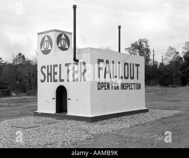 1950s CIVIL DEFENSE FALLOUT SHELTER - Stock Photo