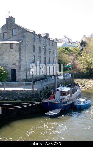 Cardigan Heritage Centre on the banks of the River Teifi . Wales UK - Stock Photo