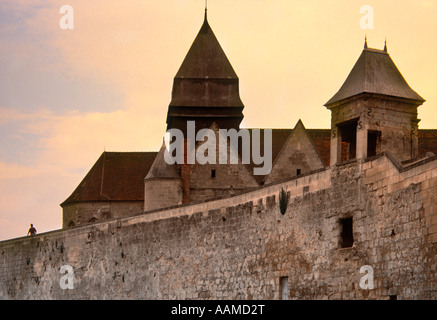 europe Coucy-le-Chteau-Auffrique is a town and commune in northern France, departement of Aisne in Picardy - Stock Photo