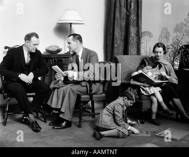 Stock Photo 1930s Father Reading To Family In Chair 31560040 on old fashioned families gathered around radio