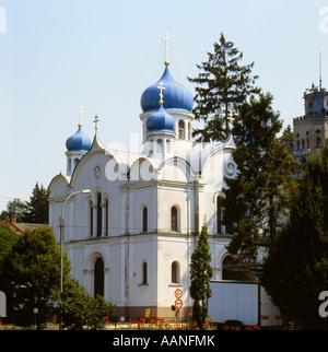 Russian Orthodox Church in Bad Ems Rheinland Pfalz Germany - Stock Photo