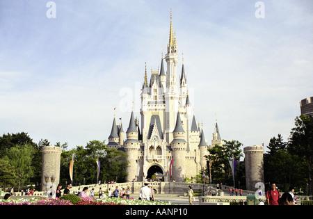 Cinderellas Castle Walt Disney Resort Tokyo Japan - Stock Photo