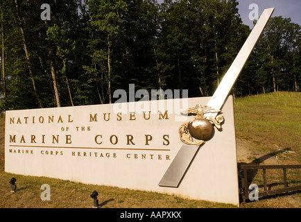 National Museum of the Marine Corps Entrance Triangle Virginia USA - Stock Photo