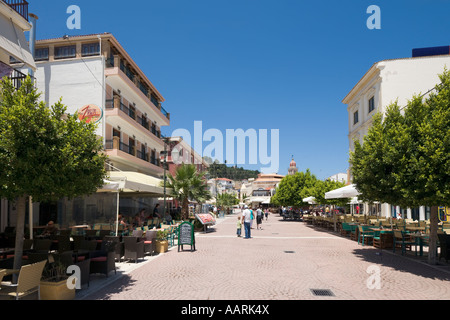 Dimokratias Street Between Solomou Square and St Mark's Square (Aghios Markou Sq), Zakynthos Town, Zakynthos, Ionian - Stock Photo