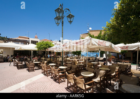 Cafe in Zakynthos Town, Zakynthos, Ionian Islands, Greece - Stock Photo