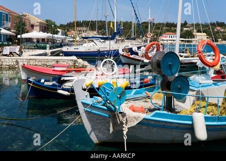 Harbour, Fiskardo, Kefalonia, Ionian Islands, Greece - Stock Photo