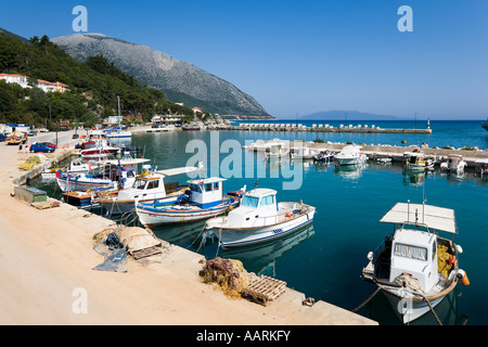 Harbour at Poros, Kefalonia, Ionian Islands, Greece - Stock Photo