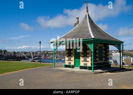 dh Pulteneytown WICK CAITHNESS Old Pilot station above Wick Harbour town - Stock Photo