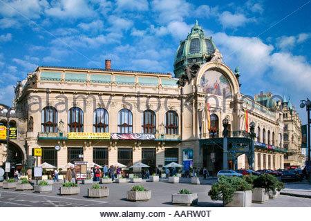Secesni Obecni Dum Stare Mesto UNESCO Praha Ceska republika - Stock Photo