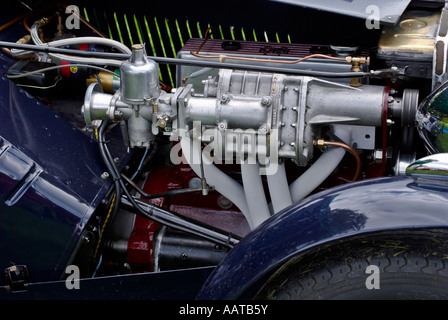 Motor Engine The engine or motor of a classic MG sports car - Stock Photo