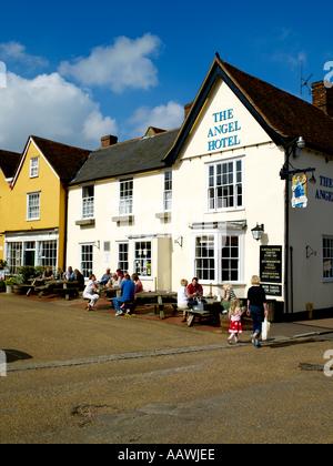 Suffolk, Lavenham, Angel Hotel - Stock Photo