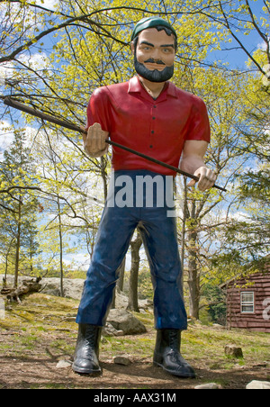 Paul Bunyan Muffler Man at the Boys Scout Camp in Stony Point New York - Stock Photo