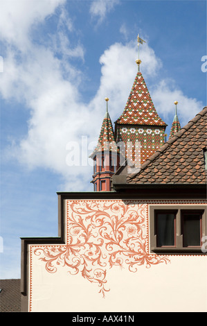 Basel Town Hall Detail-1 - Stock Photo