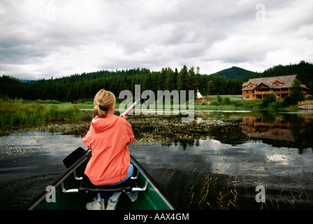 Canoing Seeley Lake Montana