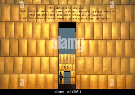 Elk279 1017 Oklahoma Oklahoma City Oklahoma City National Memorial Gates of Time - Stock Photo