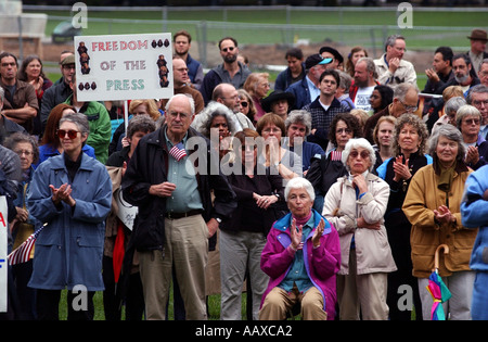 War protest protesting United States and Iraq war - Stock Photo