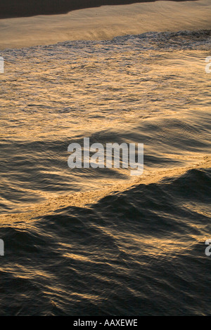Waves at Dawn Santa Monica California United States of America - Stock Photo