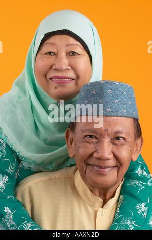 Portrait of Malay Couple - Stock Photo