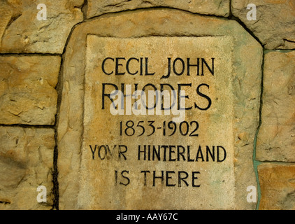Memorial to Cecil John Rhodes in the Gardens Cape Town South Africa - Stock Photo