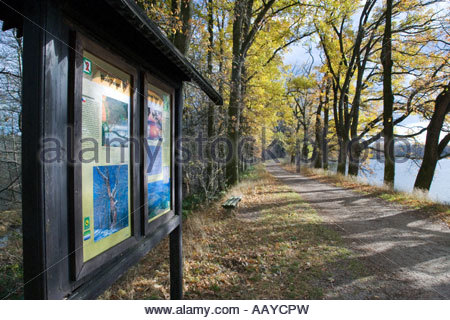 Opatovicky Rybnik nature trail Okolo Trebone Trebonsko Jizni Cechy Ceska Republika - Stock Photo