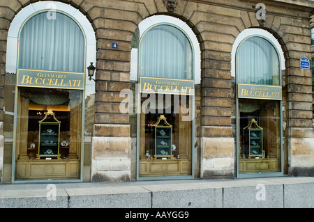 Buccellati Place Vendome jeweler Paris France - Stock Photo