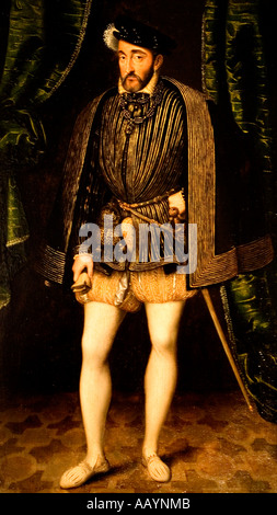 François I, King of France (1494-1547) ca 1530, Jean Clouet (1480-1540/1) - Stock Photo
