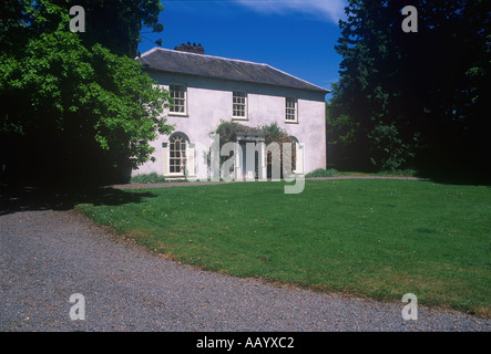 Historic Country House Plas Gelli Dylan Thomas Trail Ceredigion West Wales - Stock Photo