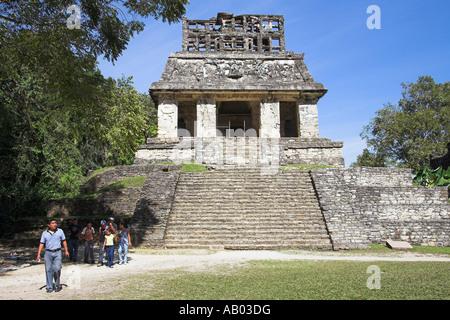 Templo del Sol, Temple of the Sun, Palenque Archaeological Site, Palenque, Chiapas State, Mexico - Stock Photo