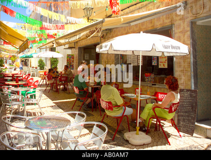 Europe Portugal Algarve Silves Cafe - Stock Photo