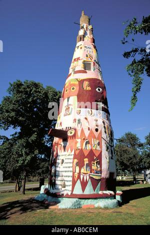 Elk279 1393 Oklahoma Foyil Totem Pole Park Ed Gallaway 1937-1948 - Stock Photo